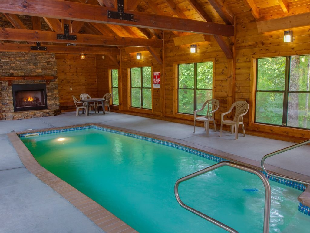 Tennessee Cabin With Indoor Pool Pigeon Forge Indoor Pool Cabins